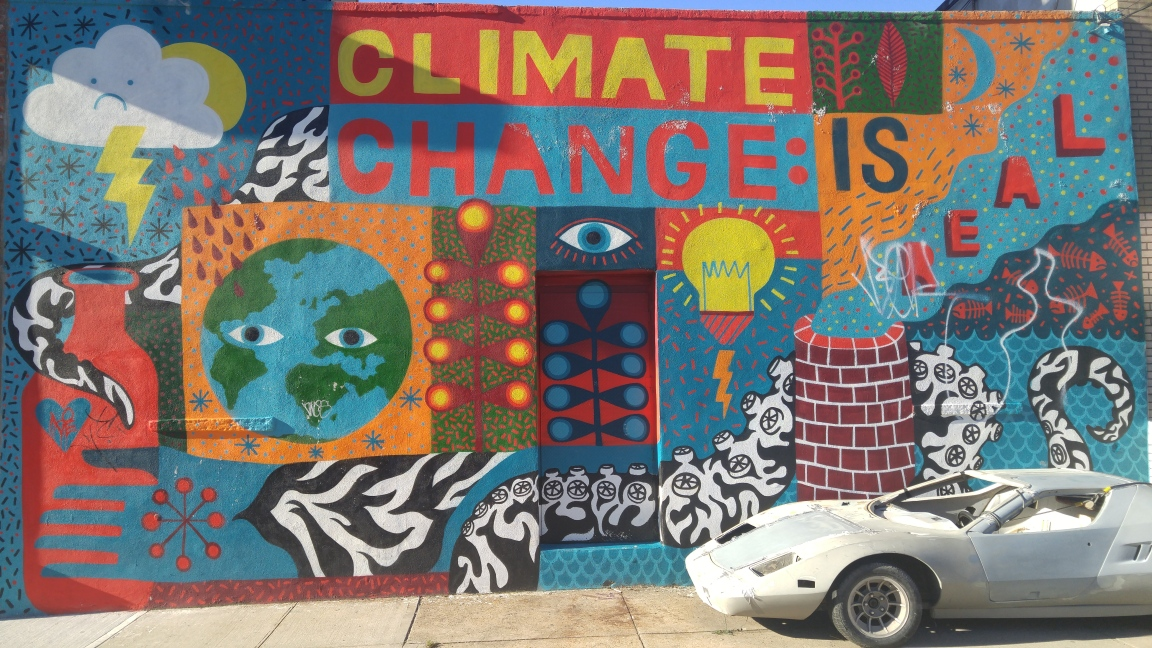 Mural-Climate Change is Real, Williamsburg, North 4th